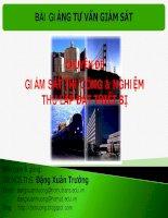 Bài giảng tư vấn giám sát - chuyên đề giám sát thi công và nghiệm thu lắp đặt thiết bị