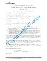 Đề thi thử THPT quốc gia môn Toán trường THPT Chuyên Lê Hồng Phong năm 2015