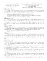 đề + đáp án MTBT hóa 10 Thái Nguyên