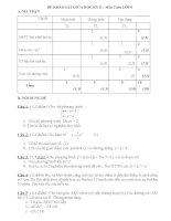 đề thi toán 9 học kì 2 có ma trận