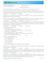 Luyện Đề Hóa Học THPT Quốc Gia 2015 Có đáp án Đề Số 4