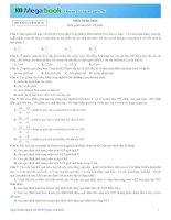 Luyện Đề Sinh Học THPT Quốc Gia 2015 Có đáp án Đề Số 8