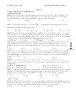 20 đề thi thử thpt quốc gia môn vật lý