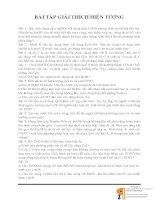 BÀI TẬP GIẢI THÍCH HIỆN TƯỢNG HÓA HỌC LỚP 9