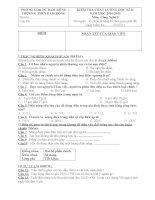 Đề Kiểm tra học kỳ 2 môn Công Nghệ 8