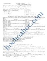 Bài tập trắc nghiệm về lưu huỳnh trong đề thi đại học