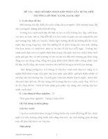 Sáng kiến kinh nghiệm: MỘT SỐ BIỆN PHÁP GÓP PHẦN XÂY DỰNG MÔI TRƯỜNG LỚP HỌC XANH, SẠCH, ĐẸP