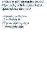 Bộ đề 405 câu hỏi và đáp án thi lái xe ô tô