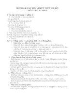 HỆ THỐNG CÁC ĐƠN VỊ KIẾN THỨC CƠ BẢN  MÔN : TOÁN – LỚP 5