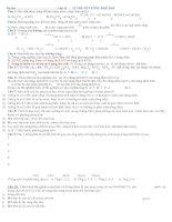 Lý thuyết hóa học vô cơ trong đề thi Đại Học Cao Đẳng