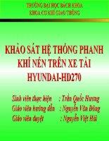 KHẢO SÁT VÀ TÍNH KIỂM NGHIỆM HỆ THỐNG PHANH XE HYUNDAI-HD270