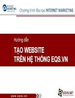 Hướng dẫn thực hành làm Website trên hệ thống EQS.VN