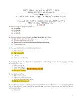 Tuyển tập 75 CÂU HỎI TRẮC NGHIỆM QUẢN TRỊ DỰ ÁN ĐẦU TƯ (II) HAY NHẤT có ĐÁP ÁN rất chi tiết