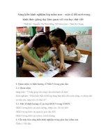 Sáng kiến kinh nghiệm giúp trẻ nhận biết bảng màu