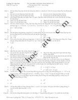 câu hỏi ôn tập hết chương môn vật lý thpt phần dao động cơ