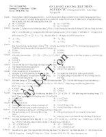 100 câu hỏi ôn tập hết chương phần vật lý hạt nhân