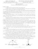 đề thi giáo viên giỏi cấp trường môn vật lý thpt quỳnh lưu III nghệ an