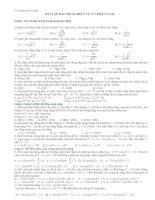 Bài tập dao động điện từ có phân loại