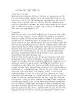 Lá thư gửi thầy giáo cũ