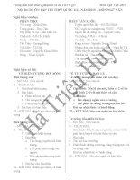 Trọng tâm ôn thi và phạm vi ra đề THPT Quốc Gia môn Ngữ Văn 2015