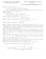 Đề thi thử THPT quốc gia năm 2015 môn toán trường THCSTHPT nguyễn bình, quảng ninh