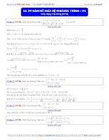 phương pháp hàm số giải hệ phương trình phần 1