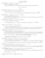 LTĐH cấp tốc phần hàm số (có đáp án)