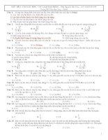 chuyên đề 2: con lắc đơn và các loại dao động