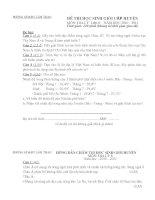 Đề thi + Đáp án HSG 6,7,8 (10-11) Địa 8