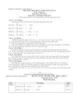 Đề thi + Đáp án HSG 6,7,8 (10-11) Hóa 8