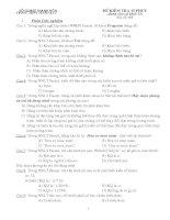 Đề bài kiểm tra 15 phút - mã đề 01 (lần 1)