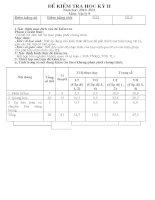 đề kiểm tra học kì II VẬT LÝ 9( Có Đ/A-MT)