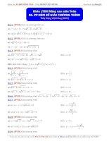 phương pháp hàm số giải pt