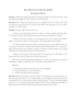 Bài tập ôn thi môn quản trị tài chính