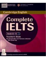 Complete IELTS Band 6.5-7.5 Teacher''''''''''''''''''''''''''''''''s book