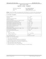 Bài tập lớn kết cấu thép (Phạm Quang Sơn)
