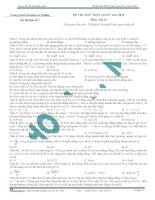 đề thi thử môn vật lí số 1