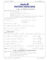chuyên đề ôn thi học sinh giỏi  phương trình hàm.