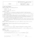 BỘ đề THI học kỳ i môn TOÁN lớp 11 có đáp án (cơ bản + NÂNG CAO)