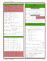 Tóm tắt công thức toán cấp 3 đầy đủ (bản đẹp)