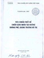 Tiêu chuẩn thiết kế chiếu sáng đường phố quảng trường TCXDVN 259-2001