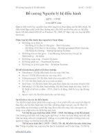 109 câu hỏi đề cương môn nguyên lý hệ điều hành