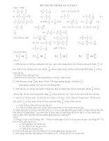 Đề cương ôn tập toán 6 học kỳ 2