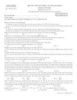đề thi thử hoá học lần 3 năm 2014 của GSTT