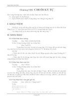 Tin học đại cương phần 2- Chương 8 ( Chuổi kí tự)