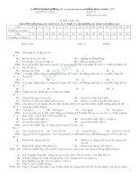 đề kiểm tra hóa hữu cơ ancol