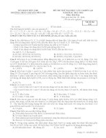 đề thi thử môn hoá chuyên bến tre lần 2 năm 2013