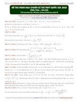 đề thi minh hoạ môn toán chuẩn cho kì thi THPT quốc gia 2015