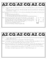 Đề thi vật lý đại cương A2