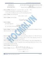 đề thi thử môn toán số 6